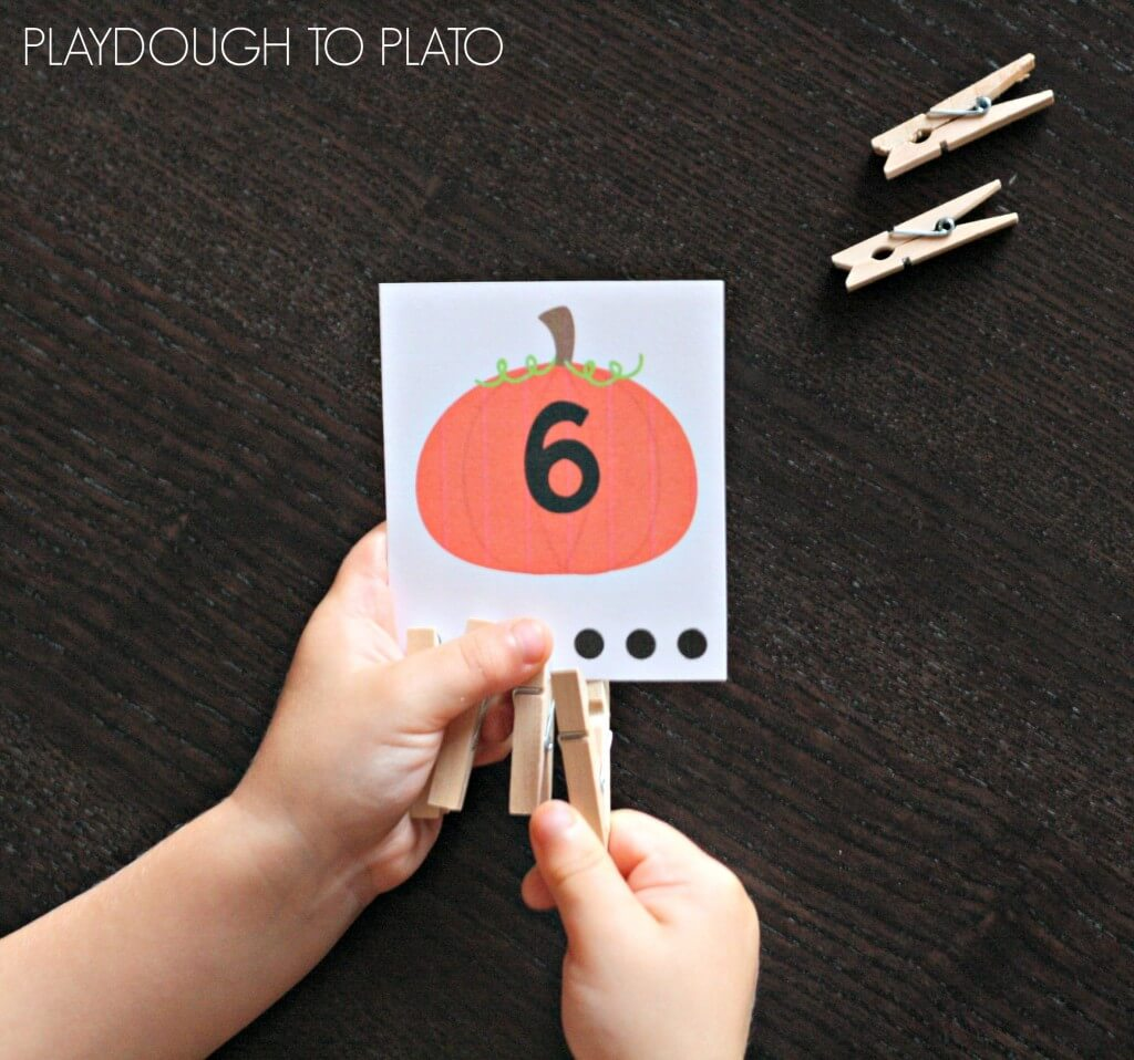 Awesome count and clip cards for fall! I love this hands-on preschool math activity.