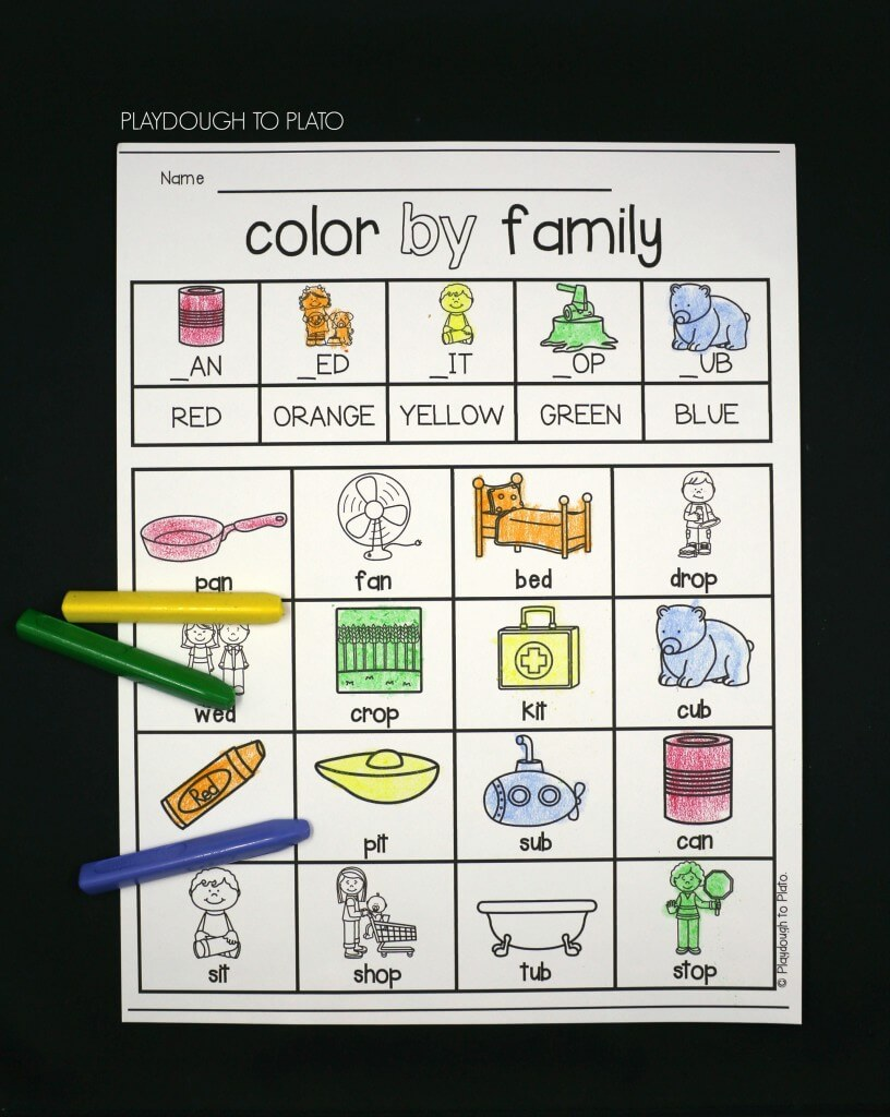 Color by Word Family!