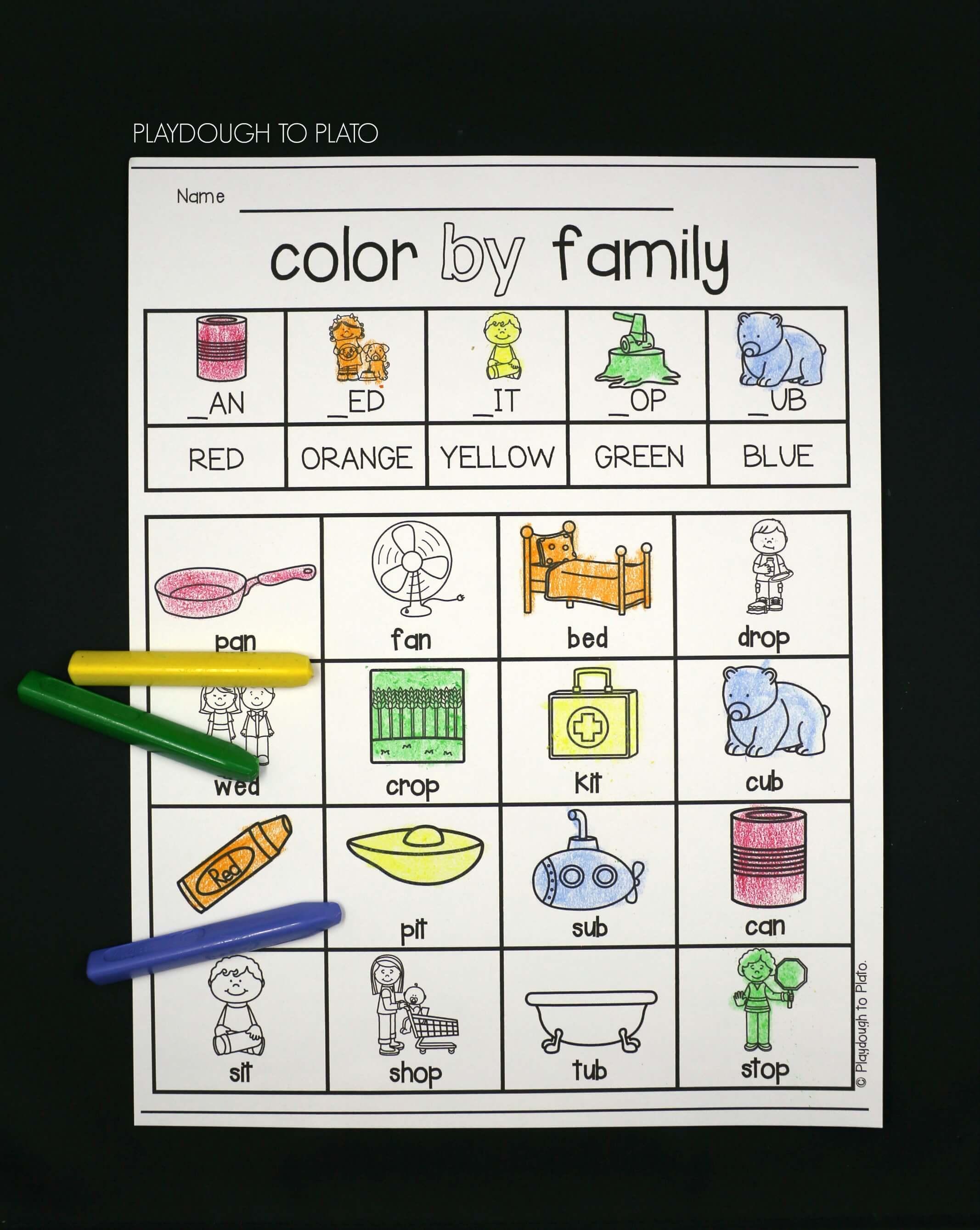 Word Family Activity Pack - Playdough To Plato