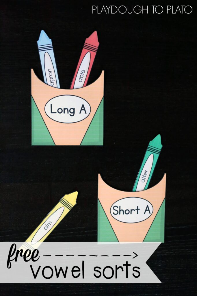 Free Vowel Sorts! Great way to practice long and short vowels.