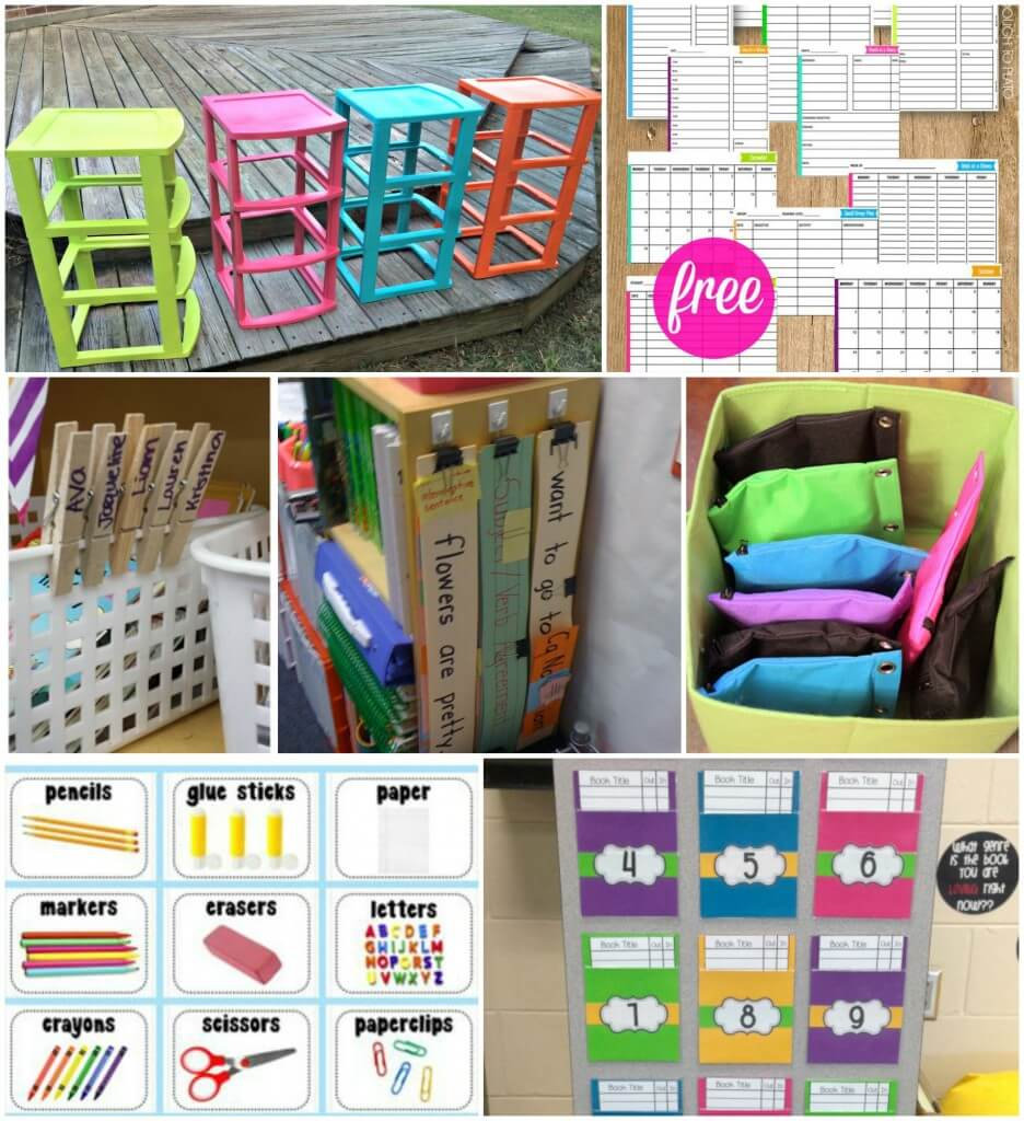 Tons and tons of awesome classroom organization tips!
