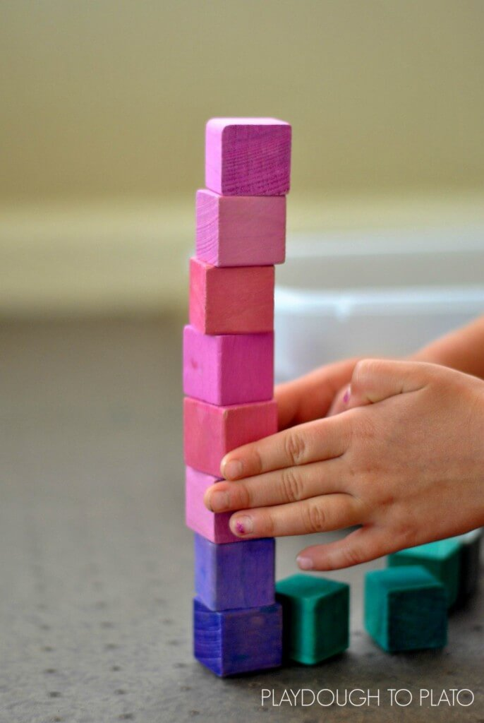 the stages of block play and why it is important for fine motor development - Playdough to Plato.1