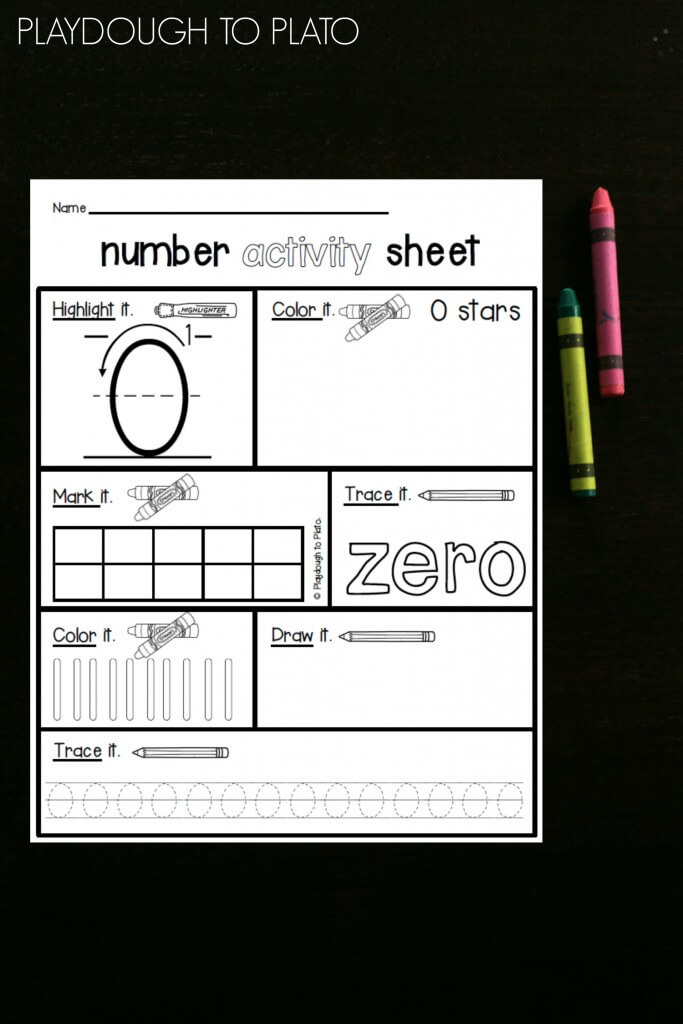 Awesome FREE number activity sheets for the numbers 0 to 5!! These are perfect preschool math or kindergarten math activities!