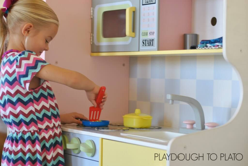 Playing is an important part of teaching preschool at home.