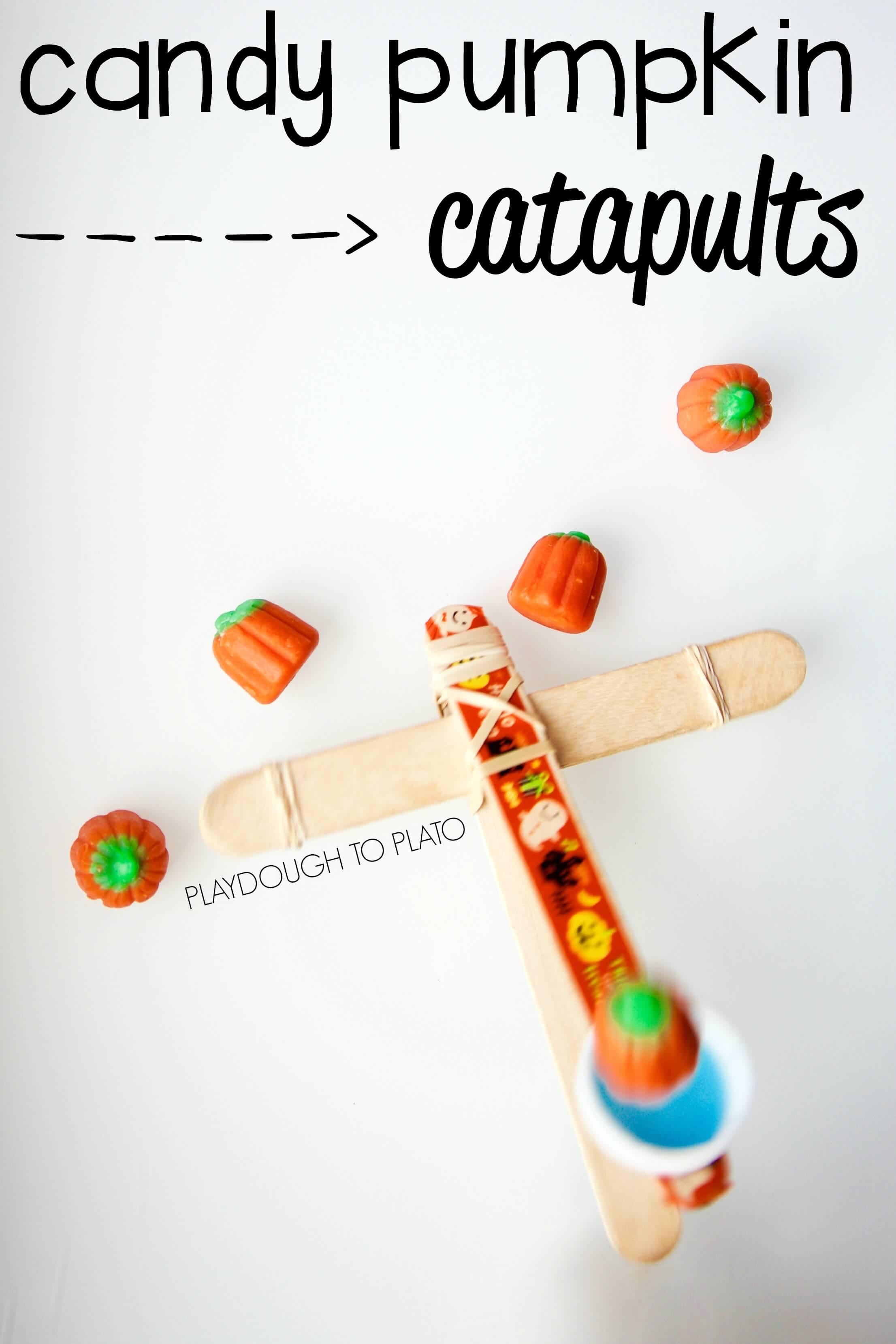 Pumpkin Catapults Playdough To Plato