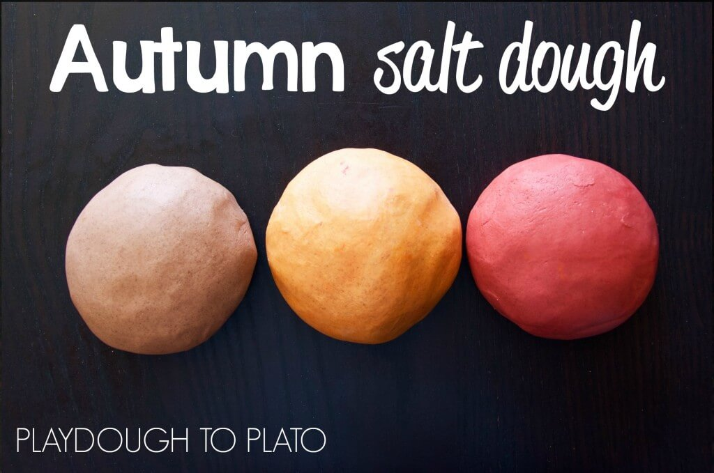 Warm, spicey scented salt dough. Perfect for kids fall craft projects!