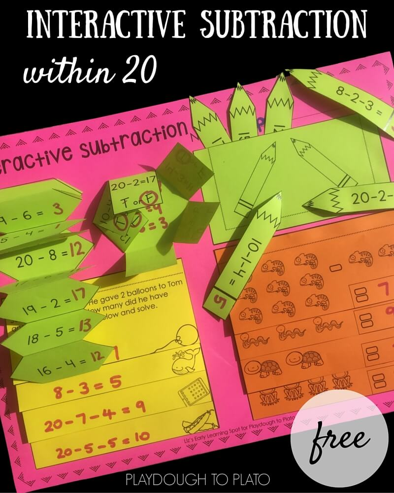 Subtraction within 20 Interactive Notebook