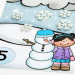Snow Counting Mats: Numbers 1-10