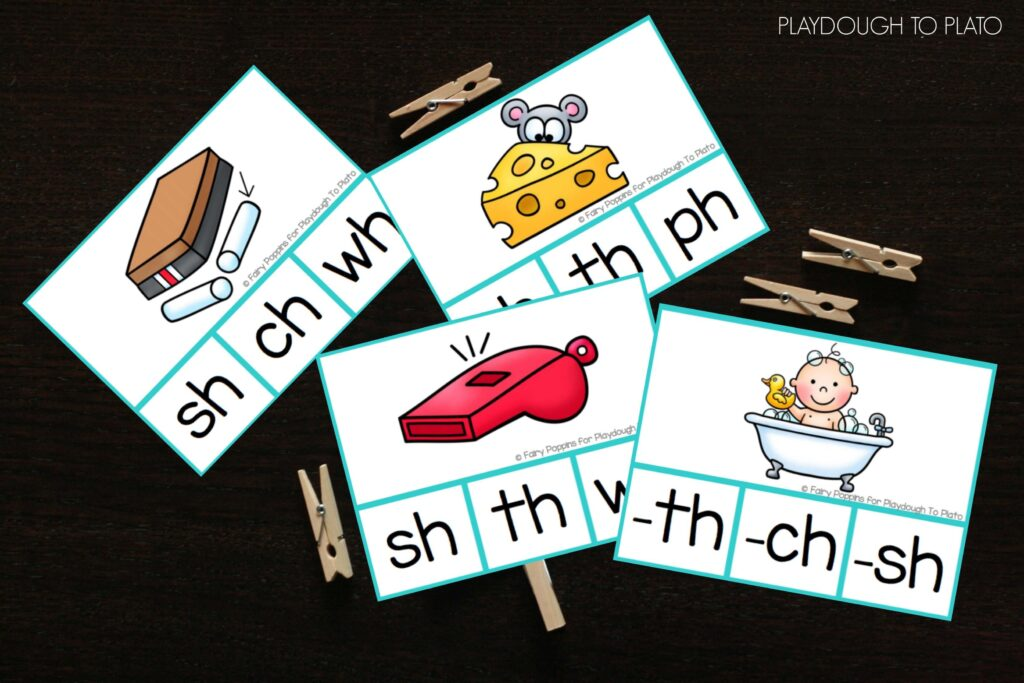 Fun digraph clip cards!