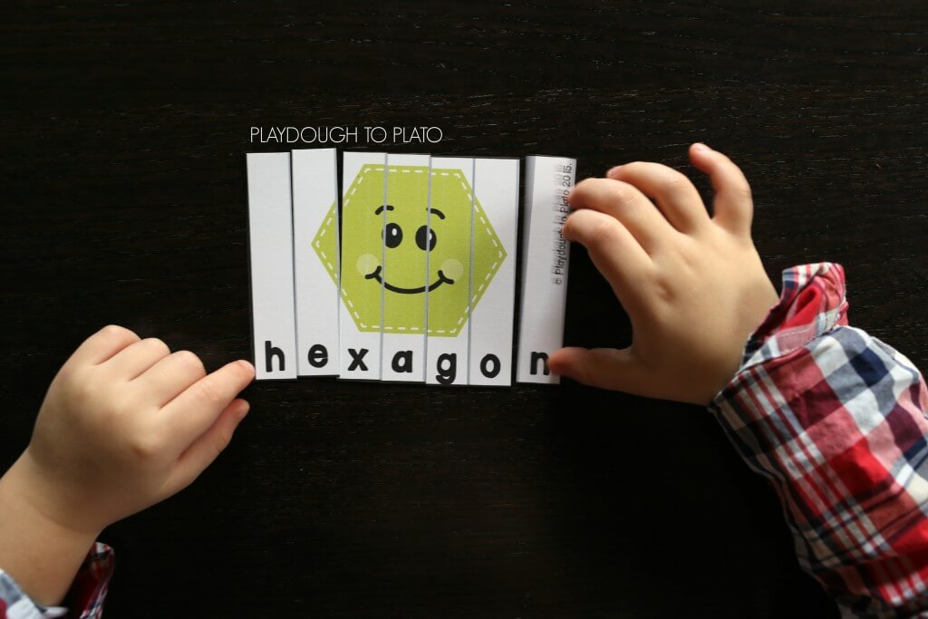 I love these shape puzzles! They're such a fun way to practice shape names and early reading.