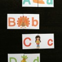 Play a round of Thanksgiving upper and lowercase match up. Fun ABC game for kids!