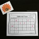 Practice writing upper and lowercase letters with a fun gobble and trace game.
