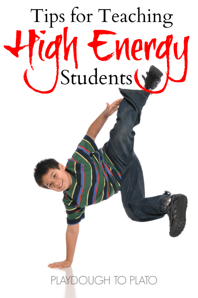 Try these five simple tips for teaching high energy students. They don't even include more activity, but are completely manageable in the classroom.