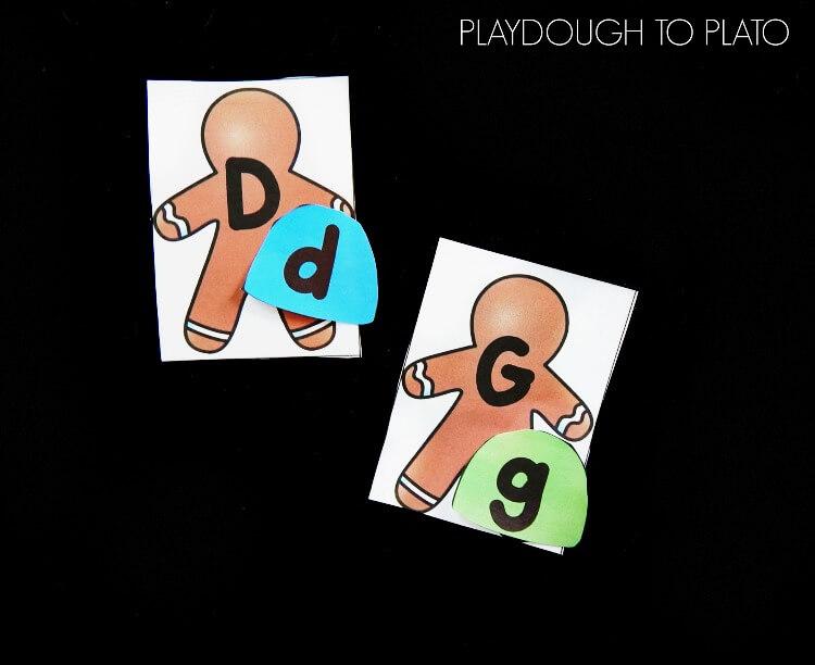 gingerbread alphabet match 2