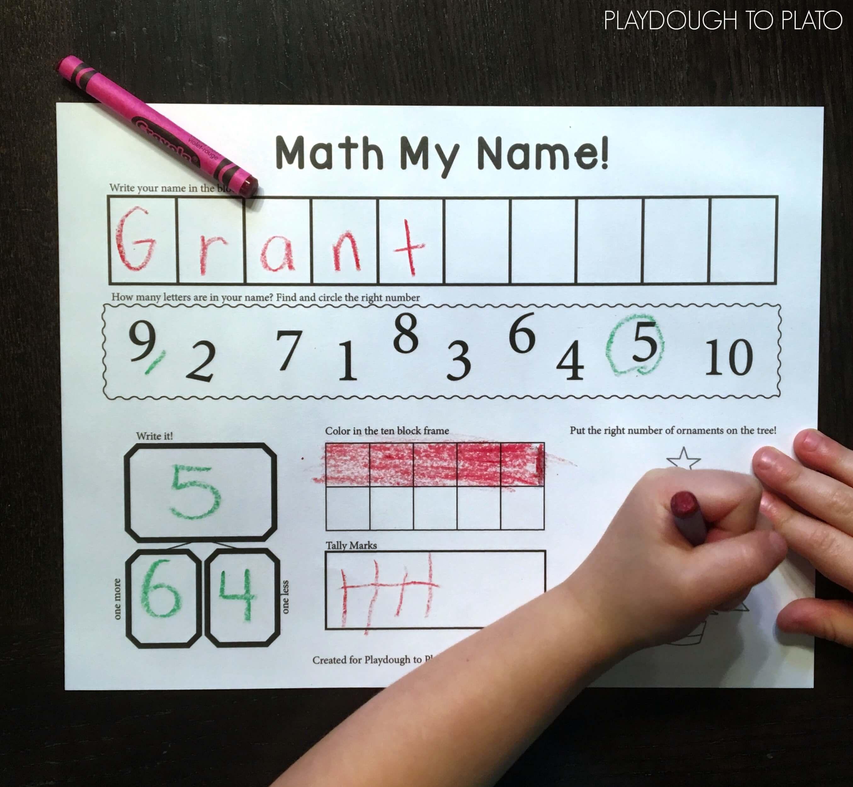 Math My Name Playdough To Plato