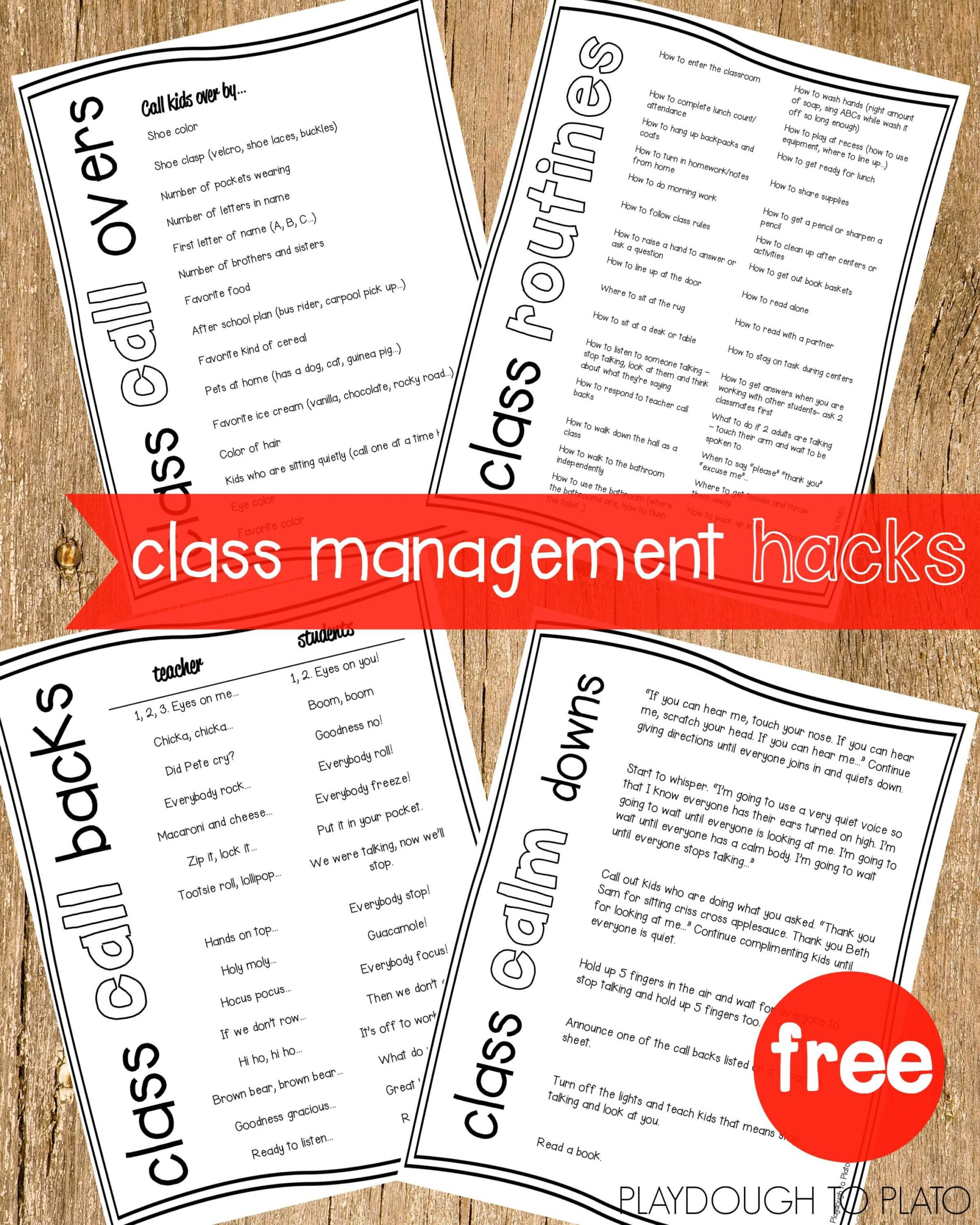 Classroom Management Hacks