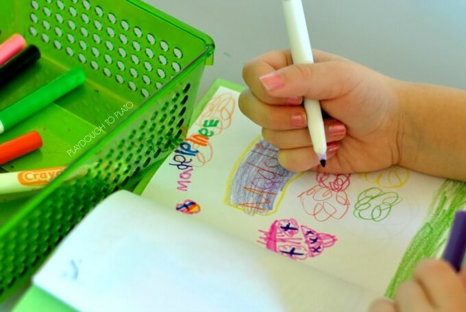 Easy journaling with toddlers and preschoolers - Playdough to Plato.3