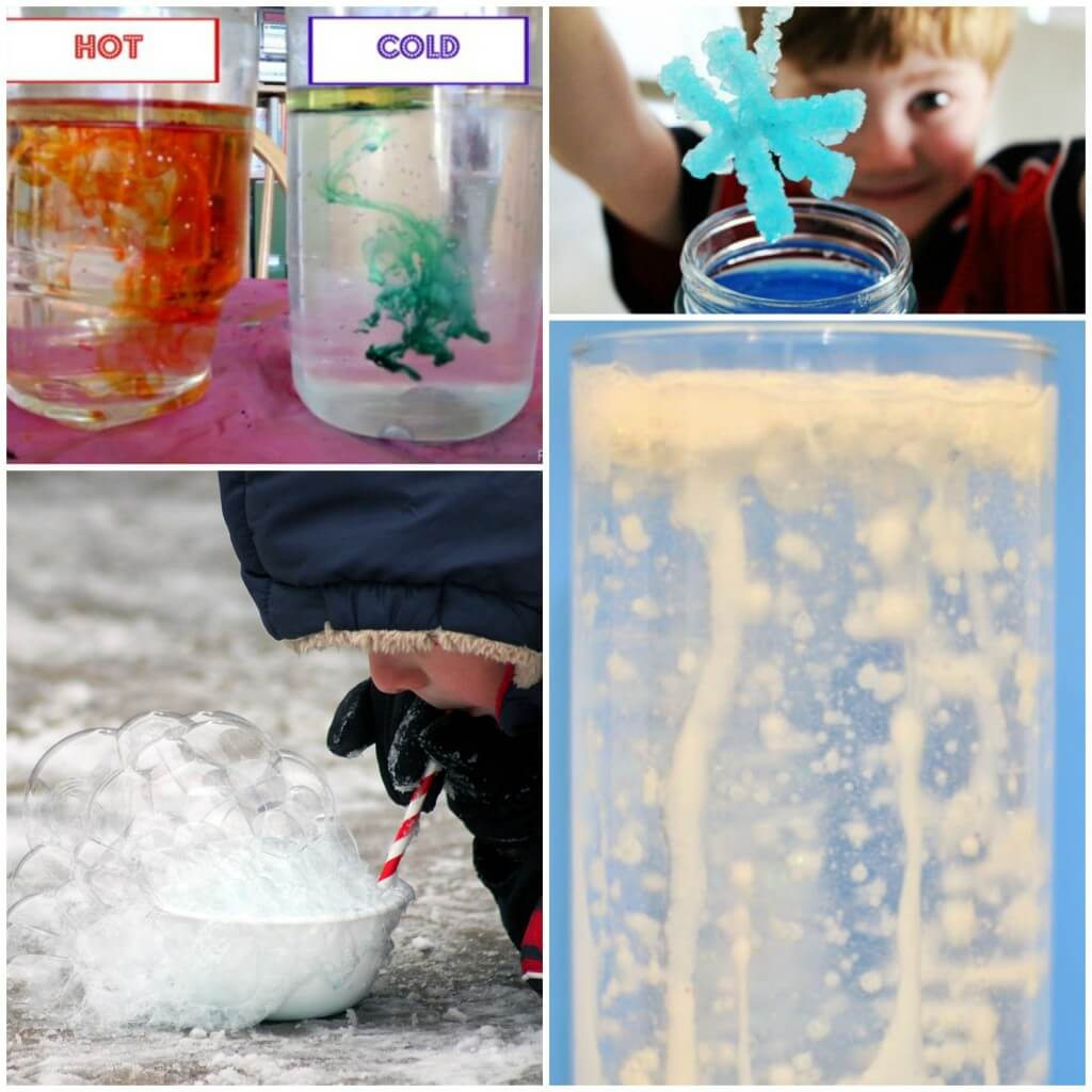 Frozen themed science experiments for kids! Lots of fun ideas for a winter unit or science project.