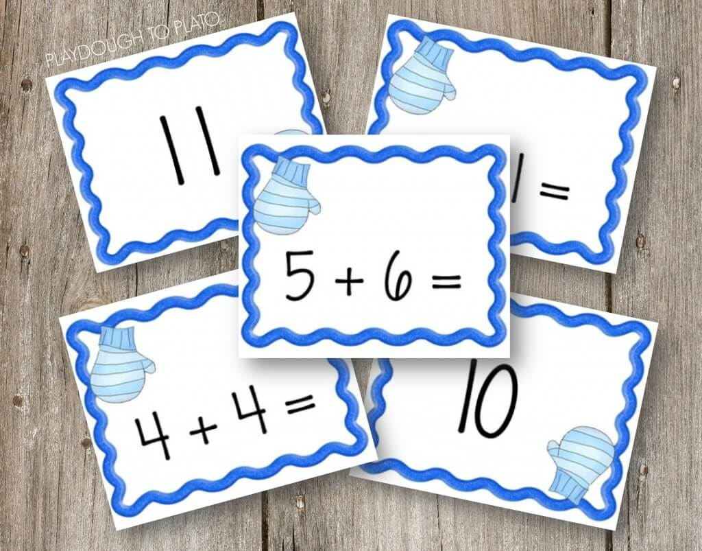Fun addition game for kids! FREE Mitten Match Up.