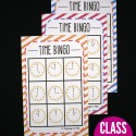 Class set of telling time BINGO! Such a fun way to work on telling time.