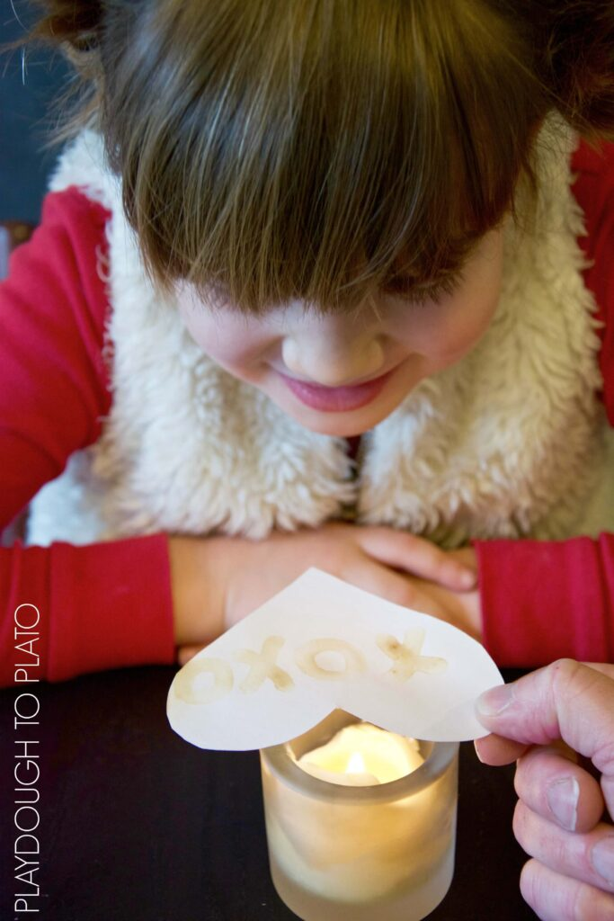 Cool science for kids! Make invisible ink valentines!
