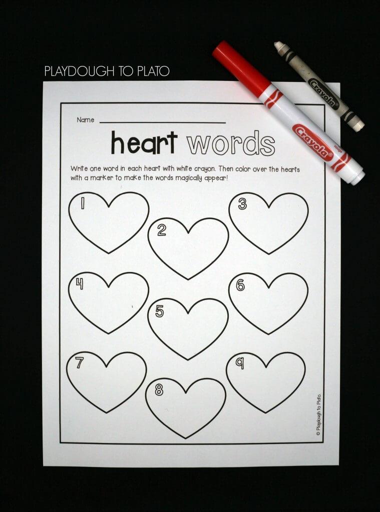 Magic Heart Sight Words - Playdough To Plato