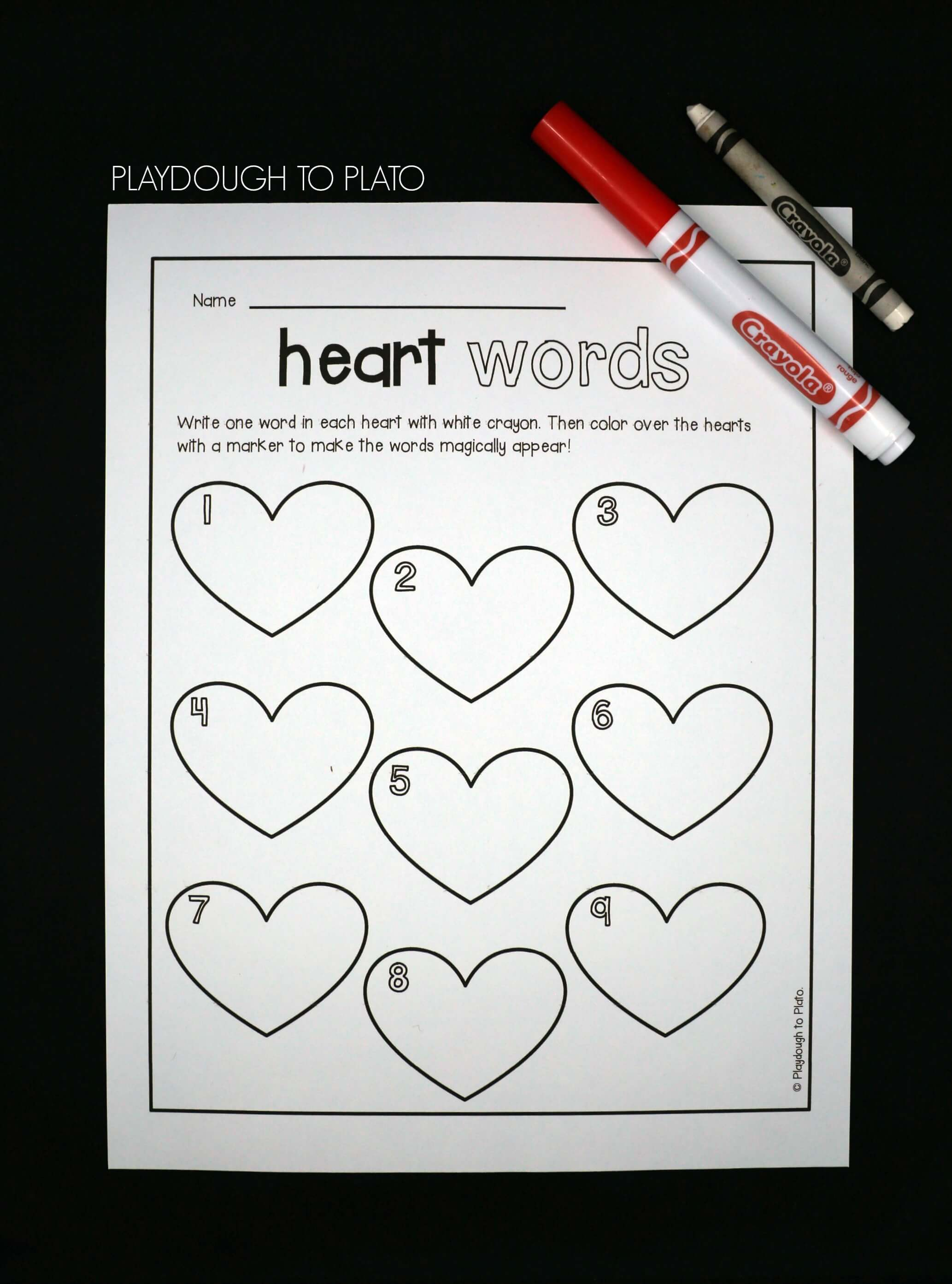 Magic Heart Sight Words - Playdough To Plato