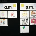 I love this hands-on telling time sort! What a great way to teach kids am and pm.