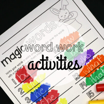 Word Work Activities-EDITABLE
