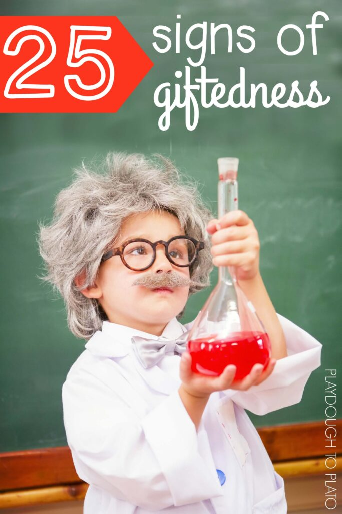 25 signs of giftedness in kids! So helpful for parents and teachers.