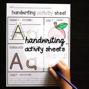 26 NO PREP Handwriting Activity Sheets!