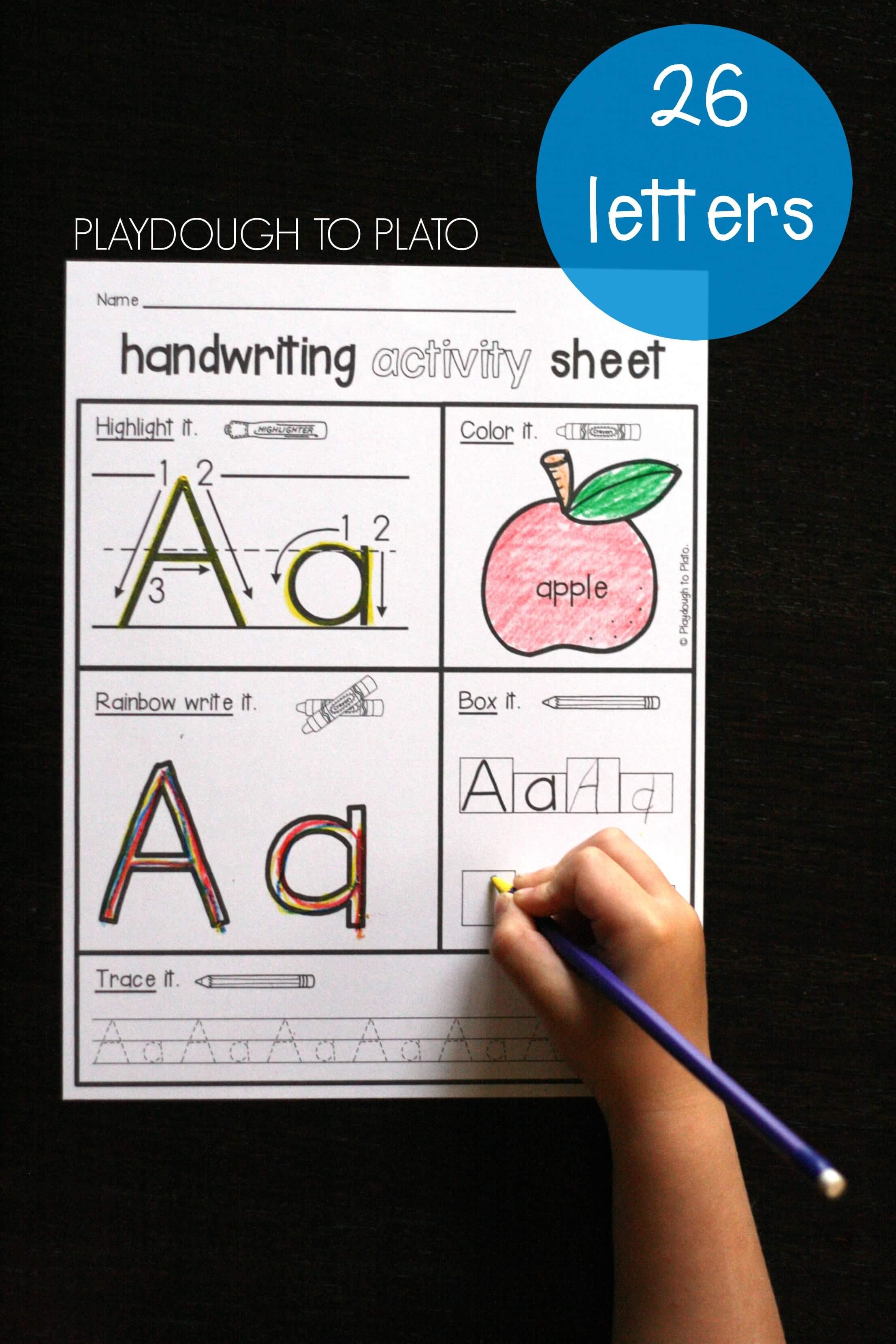 Handwriting Activity Pack Playdough To Plato