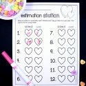 Awesome conversation heart activity for Valentine's Day! Estimate and then count a handful of hearts.