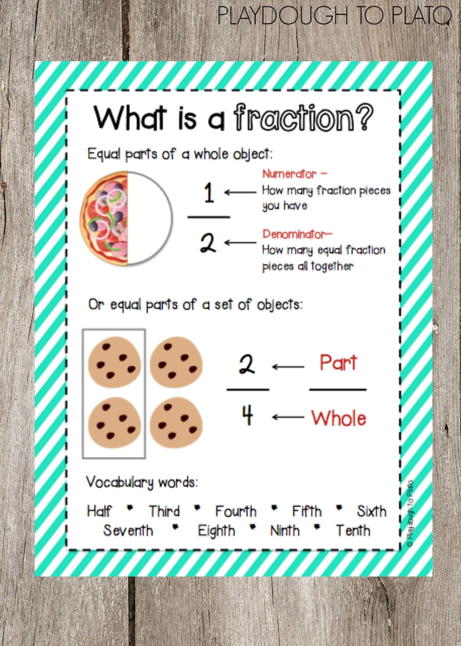 fraction activity super pack playdough to plato
