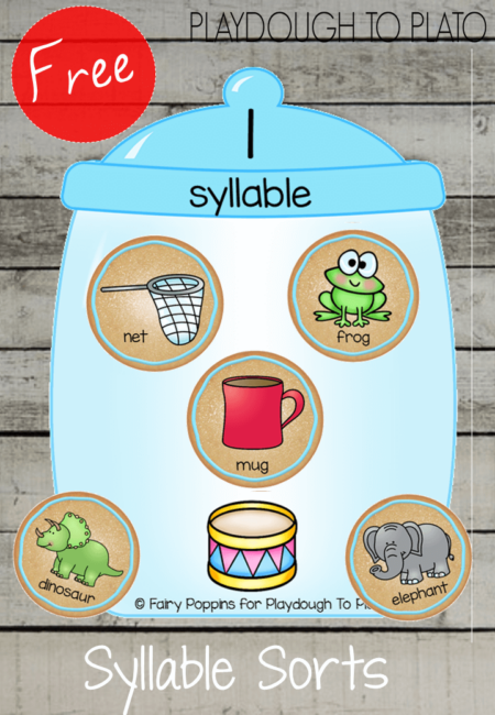 Free Cookie Jar Syllables