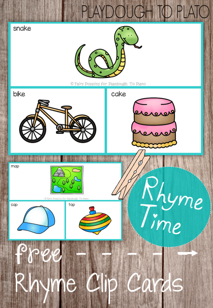 Free Rhyme Clip Cards - Playdough To Plato