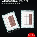 Fun fraction game for kids! Play Chocolate War. The player with the biggest chocolate fraction wins!