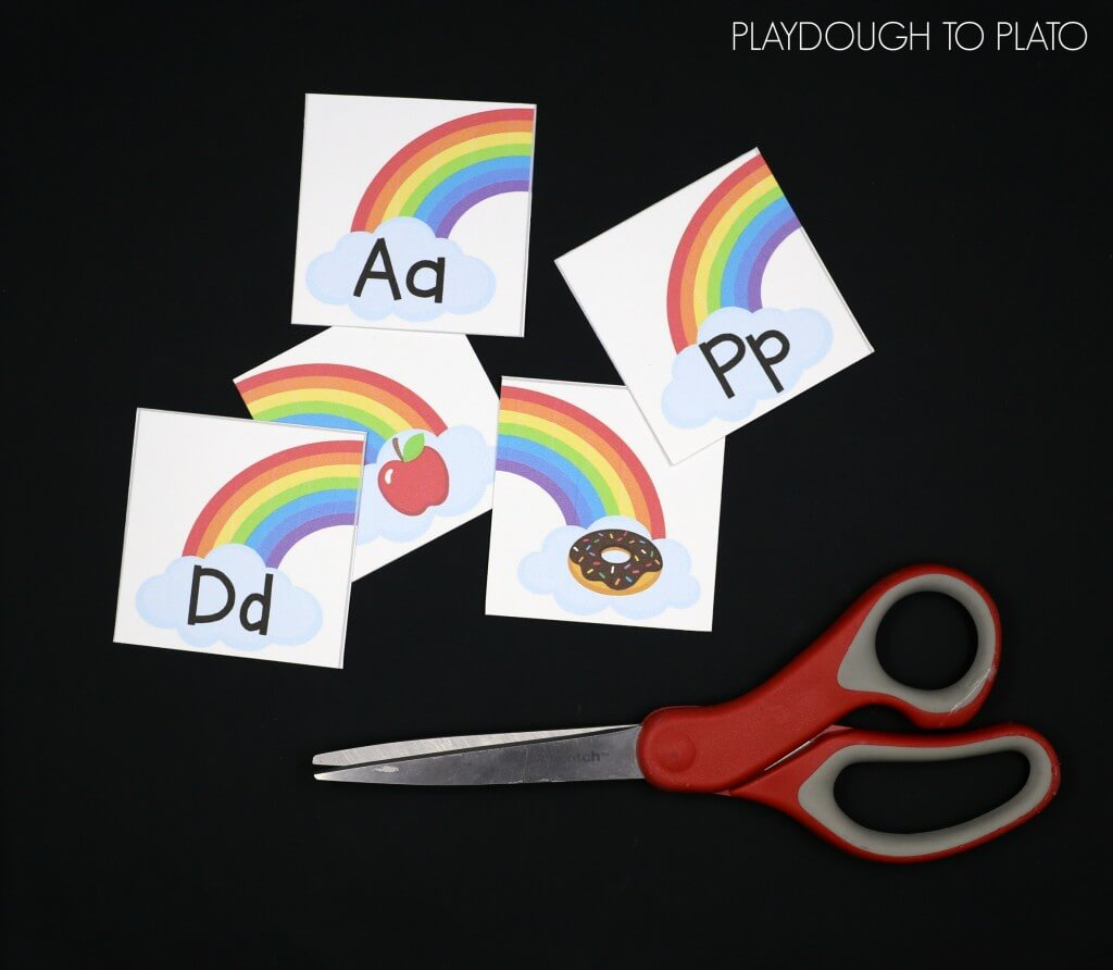 Fun rainbow ABC game for kids! Match the letter with the sound it makes. Great for beginning sound practice!