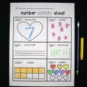 Number activity sheets for 1-10 and another for 10-20. Such a great way to teach kids different ways to make numbers.
