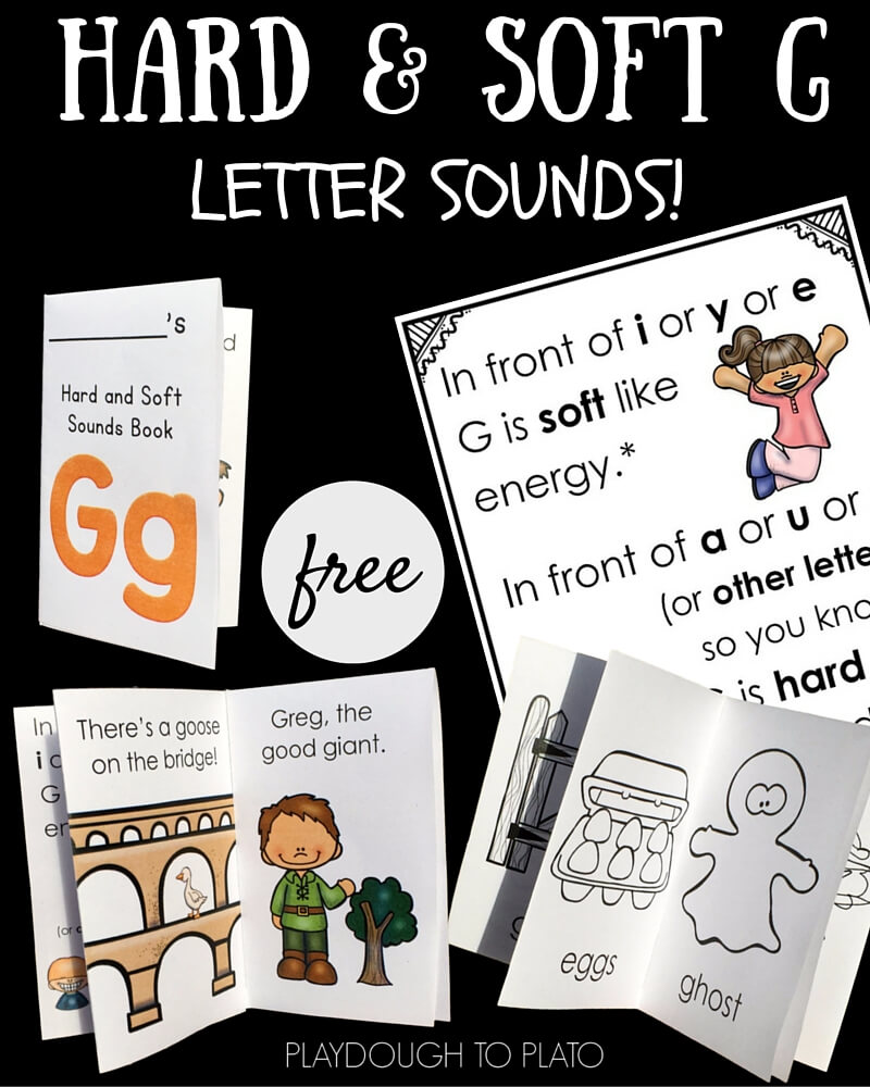 Looking for reinforcement for soft and hard G letter sounds? These free books and easy rhyme will help!