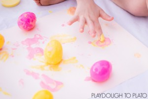 Process Art with Plastic Easter Eggs