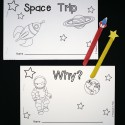 Build early reading skills with two little reader books Space Trip and Why