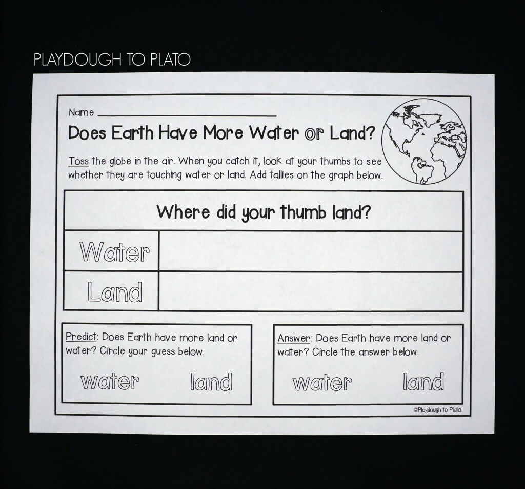 Find out whether the Earth has more water or land with a fun toss and tally game.