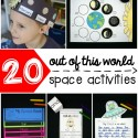 I love these outer space activities for kids! Tons of fun ideas for science, math and literacy. There's so much variety that it's perfect for preschool, kindergarten, first grade or second grade.