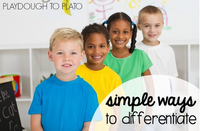 Simple Ways to Differentiate in the Classroom. Lots of great differentiation ideas for sensory, active and even highly capable kids.