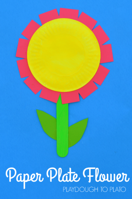 This paper plate flower craft will brighten up your home or classroom this spring. It also makes a great homemade Mother's Day gift from the kids.
