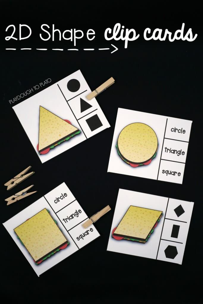 2D Shape Clip Cards