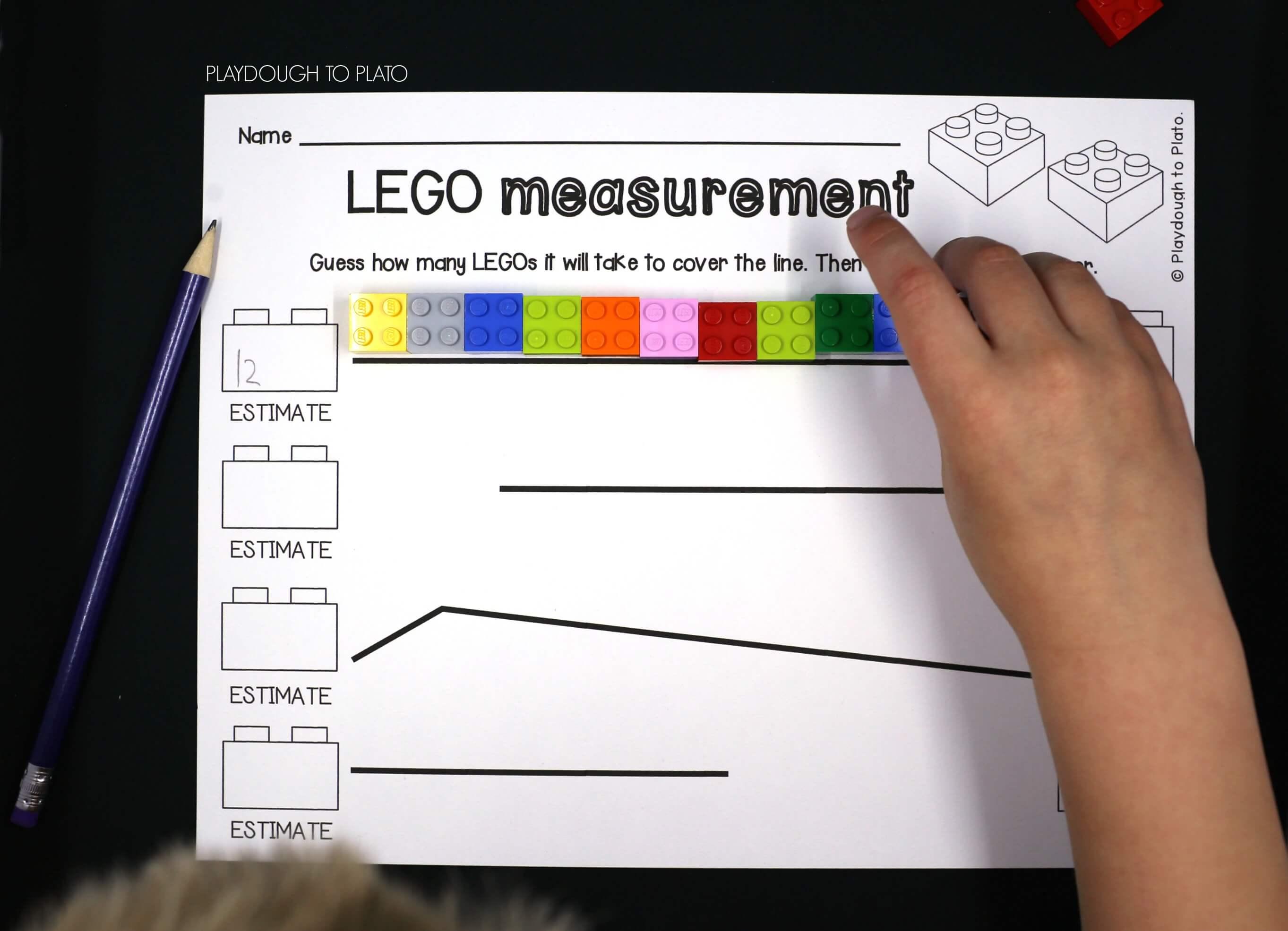 LEGO Measurement - Playdough To Plato