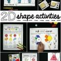 Super fun 2D shape activities for kids!