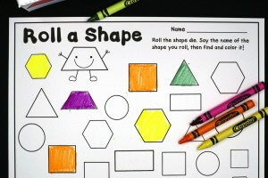 Roll and Color Shapes
